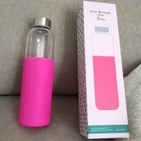 Isaac Mizrahi Glass Water Bottle