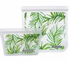 Full Circle Reusable Plastic Bags Sandwich and Snack Set in Palms