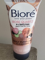 Biore Rose Quartz & Charcoal Daily Purifying Cleanser
