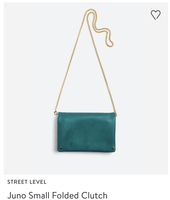 Street level Juno small folded clutch