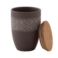 Brown Ceramic Jar / Vase