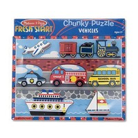 Melissa and Doug Vehicle Chunky Puzzle