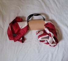 Red & White100% Silk Scarf