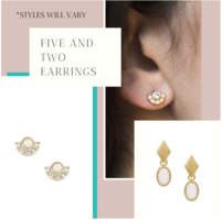 Five and Two Opal Earrings