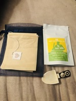 Lemon lavender loose tea with bags and scoop