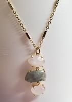 3 Gemstone Pendant Necklace