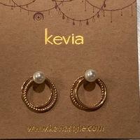 gold hoops with pearl earrings