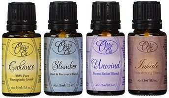 Ovvio Oils Top Aromatherapy Blends Gift Set 4 Full Sz 15ml Bottle Essential Oils