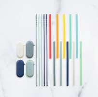 Get it Right Silicone Straw 10-Pack: Rainbow Set