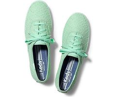 Keds Champion Eyelet in Mint Green