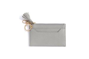 Shiraleah Gigi Card Case with Key Chain Grey