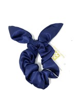 Mary Square Navy Tie Hair Scrunchie