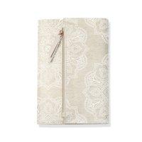 Mandala Linen Clutch Journal