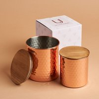 Uncommon James Set of 2 Copper Canisters