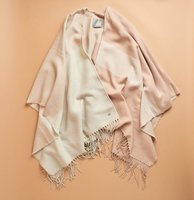 SOIA & KYO Woven Scarfigan with Fringe