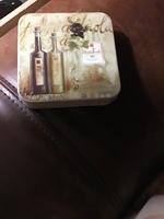 Vino Italian Grape Coasters 6 cork back