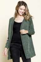 Sweater knit pocketed cardigan