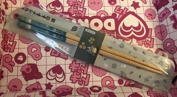 Totoro chopsticks light blue