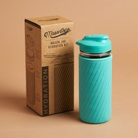 Masontops Glass Water Bottle - Turquoise