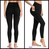 Black High-Waist Tummy-Control Pocket Yoga Pants