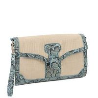 33rd & Mad by Koret Linen Clutch Mint