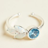Opal and Blue Crystal Ring