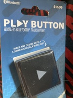 Bluetooth play button wireless Bluetooth transmitter
