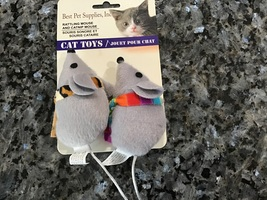Toy mice catnip and rattling