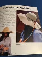 Suede Lariat Necklace in Blue