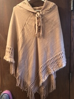 Oceanista Classic Knit Beach Hoodie Poncho