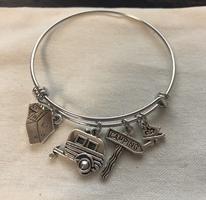 Camping themed charm bracelet
