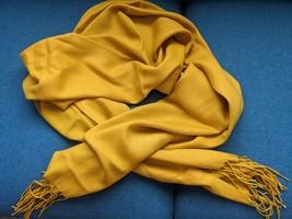 Mustard yellow scarf