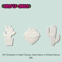 Crafty Chica DIY Ornament in Crest Heart