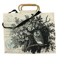 Tawny Owl Jute Tote