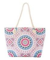 Simple Jumo Large Pink Geometric Tote Bag