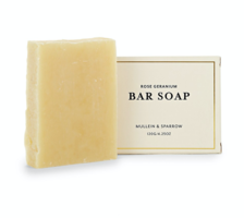 Mullein & Sparrow Rose Geranium Bar Soap- Full Size