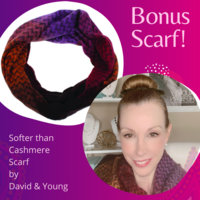 """""""Softer than Cashmere"""" infinity scarf by David & Young"""