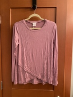 Pret-a-Portee long sleeve tee in Mauve