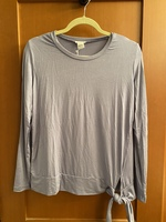 Pret-a-Portee long sleeve tee in Periwinkle