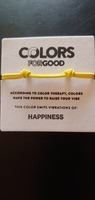 Colors For Good Cord Bracelet YELLOW