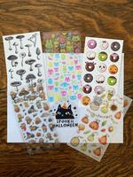 5 sheets of halloween stickers