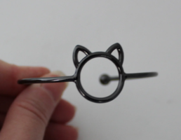 Black Cat Cuff Bracelet