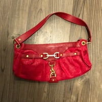 Banana republic red purse with gold hardware