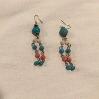 Modcloth Turquoise Beaded Earrings