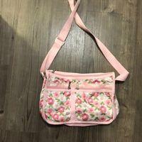 Lesportsac pink floral bag