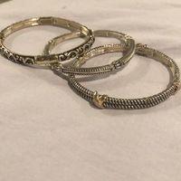 Set of 3 Stretchy Silver Bracelets