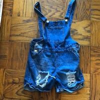 VIP JEANS size XL jean overall shorts