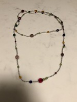 Rainbow Beaded Long Necklace