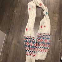J Crew embroidered summer cotton scarf