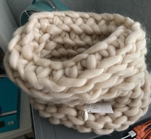 Soft Chunky Knit Basket with Seashell